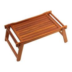 Eddie Bed Tray Table, Solid Teak Wood