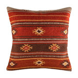 Red Tribal Wool Kilim Cushion, Large, Cover Only