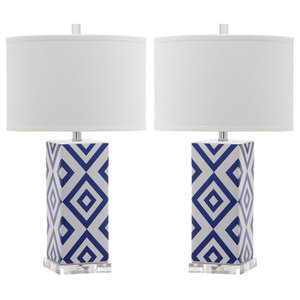 Safavieh Vivian Table Lamps, Set of 2, Navy