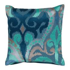 Surya Pillow Kit Poly Fiber Snorkel Blue 22   x 22   Accent Pillow