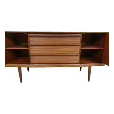 Consigned Beautiful Compact Mid Century Credenza By Austinsuite Of London