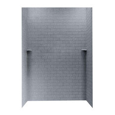 Swan 36x62x96 Solid Surface Shower Wall Kit, Night Sky