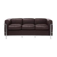 Le Corbusier LC2 Petit Sofa Italian Leather, Chocolate Italian Leather