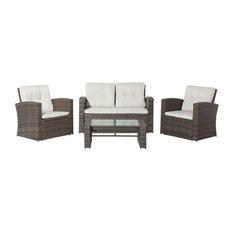 Luca Rattan Garden Sofa Set