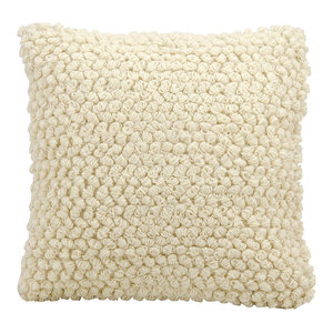 "Mina Victory Life Styles Thin Group Loops Pillow, Ivory, 20""x20"""