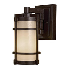 The Great Outdoors Andrita Court Outdoor Wall Light in Textured French Bronze