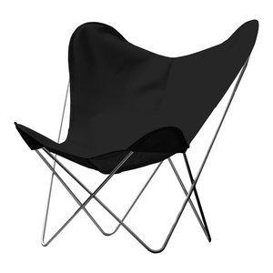 Outdoor Hardoy Leather Butterfly Chair, Anthracite