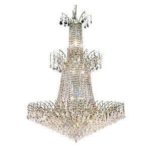 Elegant Lighting 8033G32C Victoria 18-Light 0-Tier Crystal Chandelier, Chrome