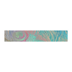 """Alison Coxon """"Indian Summer"""" Purple Teal Abstract Table Runner"""