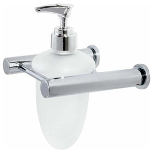 Wall-Mounted Rustproof Chrome and Glass Infinity Liquid Soap Dispenser