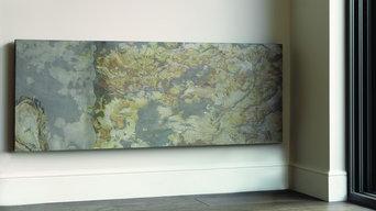 CLIFF - Eskimo Barren Stone finish. Natural stone radiators - electric or hydron