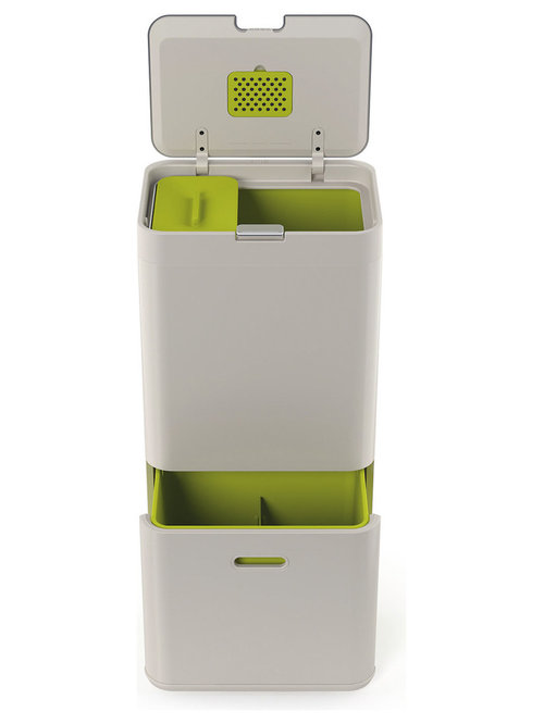 Great Joseph Joseph 60L Totem Recycling Bin: Stone 30001   Recycling Bins