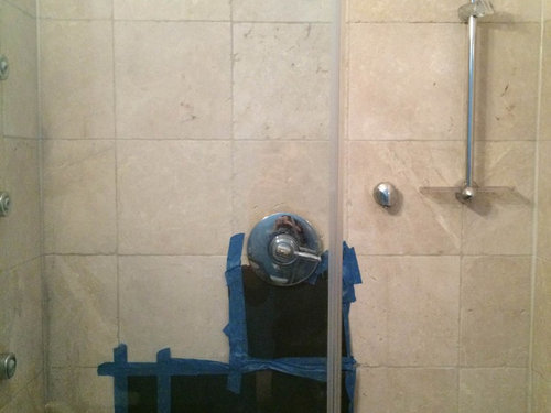 What To Do When Cant Match Tile - 12x12 tile shower walls