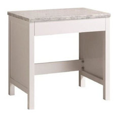 "30"" Make-Up table, White"