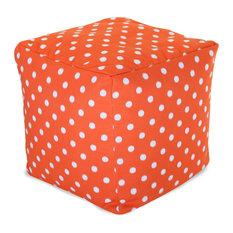 Outdoor Orange Ikat Dot Small Cube