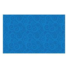 Swirl Tone-On-Tone Blue Rug, 7'6x12'