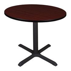 """Cain 36"""" Round Breakroom Table, Mahogany"""