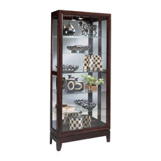Philip Reinisch Company   Philip Reinisch Lighthouse Urbane   Wood Curio  Cabinet   China Cabinets And