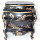 Hand Painted French Bombe Bombay Chest Commode Vanity ...