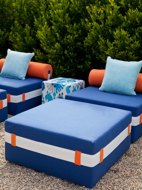 Katharine Webster Outdoor Furniture Collection - Outdoor Chaise Lounges