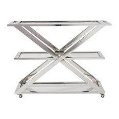 Draper Bar Cart, Stainless