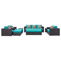 Modway Convene 9-Piece Outdoor Patio Sofa Set