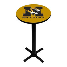 Gold Missouri Tigers Pedestal Pub Table With Black Base