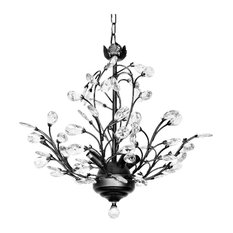 Julia 4 Light Crystal Chandelier, Modern and Contemporary