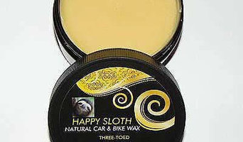 Happy Sloth Three Toed Natural Car & Bike Wax
