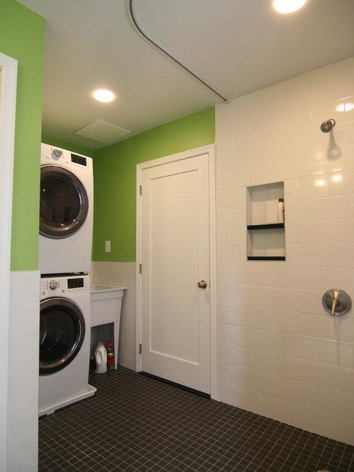 Small bathroom laundry room combo houzz for Bathroom utility room designs