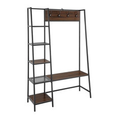"""Delacora WE-BDT72ASS Wallace 46""""W Laminate and Metal Rustic Hall - Wood"""