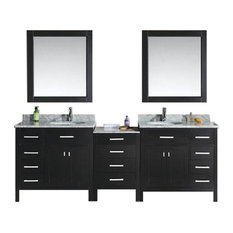 "London 92"" Double Sink Vanity Set, Espresso"