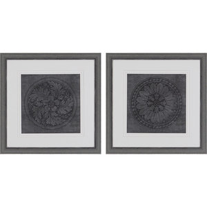 "Rosettes I Artwork, Set of 2, 26""x26"""