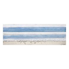 """House Ipanema"" Print on White Wood, 60""x20"""