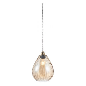 Cognac Rippled Glass Non Electric 60W
