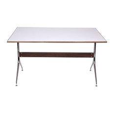 The Swag Leg Rectangular Work Table Desk