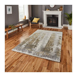 Brooklyn 8595 Ivory Yellow Rectangle Modern Rug 120x170cm