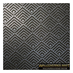 Mica Natural Wallpaper Gray silver Arthouse Geometric, Roll - 36 Inc X 23 Ft