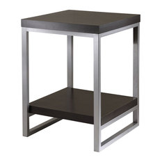 Beautiful Winsome   Jared Enamel And Steel End Table, Dark Espresso   Side Tables And  End