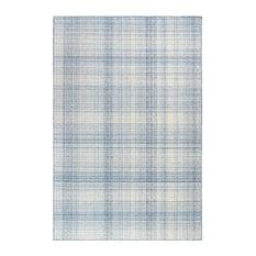 "Trans Ocean by Liora Manne Preston Plaid 7'6""x5' Blue Rug"