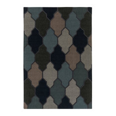 Transitional 2'x3' Blue and Gray Area Rug