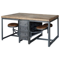 Industrial Dining Tables by Marco Polo Imports