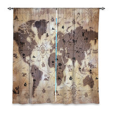 dianoche designs whimsical world map v window curtains 2 piece set 80