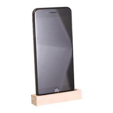 Wood Junkie - Oak Phone Dock, Natural Wood, Small - Home Electronics