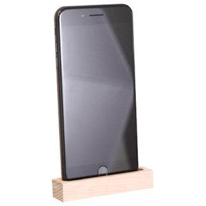 Oak Phone Dock, Natural Wood, Small