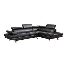 Global Furniture USA - Global Furniture Sectional, Black - Sectional Sofas