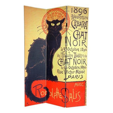 6' Tall Double Sided Chat Noir Room Divider