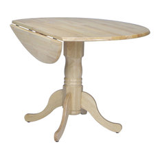 1st Avenue   Mason Rina Dual Drop Leaf Pedestal Table, Natural   Dining  Tables