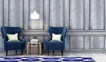Another Way Home, 'SOFT OPAQUE' area rug in shades of blue.