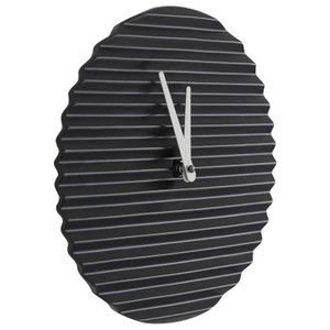Sabrina Fossi Wave Wall Clock, Black